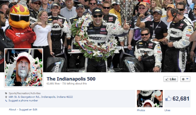 Indy 500 FB page