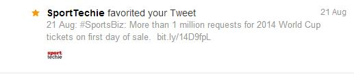 Favorited by SportTechie