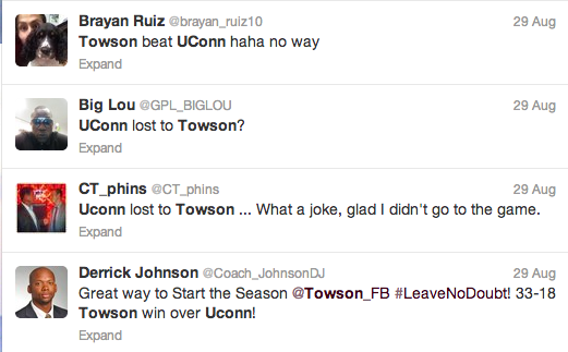Twitter   Search   towson  uconn
