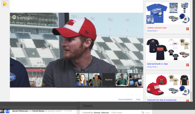 488Hangout with Dale Earnhardt Jr. and Jimmie Johnson   Google
