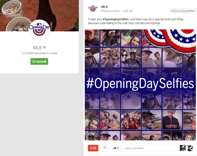MLB   Google    Tweet your  OpeningDaySelfies  and there may be a special…